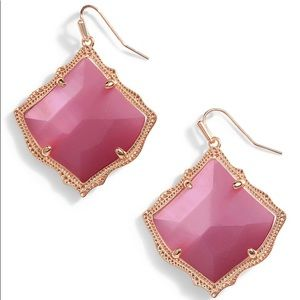 NWT Kendra Scott Kirsten Earring - Pink Cat Eye